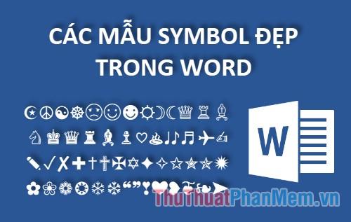cac mau symbol dep trong word
