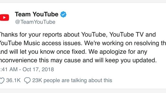 youtube gap su co ket noi khap toan cau trong do co viet nam